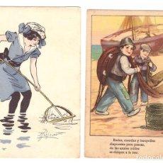 Postales: LOTE DE 2 POSTALES. UNA FECHADA EN VICH EN 1952. Lote 169368060