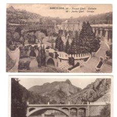 Postales: LOTE DE 2 POSTALES. BARCELONA.- PARQUE GÜELL. ENTRADA. STANDARD 58 Y FOTO-POSTAL (?). Lote 169368064