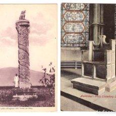 Postales: LOTE DE 2 POSTALES: COLONNA DI PIETRADELLE TOMBE DE MING (CHINA) Y ARCHBISHOP´S CHAIR CANTERBURY CAT. Lote 169368068