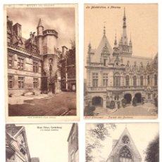 Postales: LOTE DE 4 POSTALES: RIVER STOUR, CANTERBURY (1) (3 ) FRANCESAS: MUSÉE DE CLUNY Y LA BÉNÉDICTINE Á FE. Lote 169368072