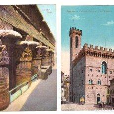Postales: LOTE DE 2 POSTALES. ESNEH.- TEMPLO (EGIPTO) Y FIRENZE. PALAZZO PRETORIO DO DEL PODESTA (ITALIA). Lote 169368096