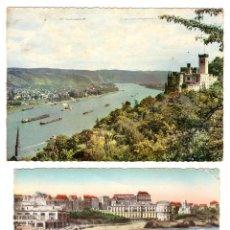 Postales: LOTE DE 2 POSTALES.- KAPELLEN (ALEMANIA) Y BIARRITZ (FRANCIA) FRANQUEADAS Y FECHADAS EN 1963 Y 1957. Lote 169368446