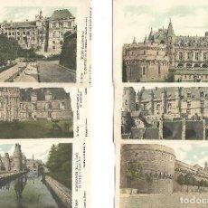 Postales: GRAN COLECCION DE 42 POSTALES ANTIGUAS 37 CASTILLOS 4 ABADIAS DE FRANCIA LA HISTORIA EN CASTELLANO. Lote 170528772