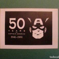 Postales: 50 YEARS OF CAPTAIN AMERICA 1941 - 1991 50 ANIVERSARIO CAPITAN AMERICA. Lote 170977363