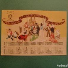 Postales: CENSO 1950 POBLACION CAPITALES DE ESPAÑA INSTITUTO NACIONAL DE ESTADISTICA PRESIDENCIA DEL GOBIERNO . Lote 170977644
