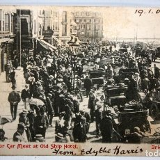 Postales: POSTAL DE BRIGHTON (REINO UNIDO). DESFILE DE COCHES A MOTOR - 1903 - CIRCULADA.. Lote 171101457