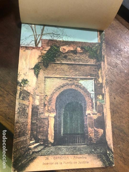 Postales: LIBRO RECUERDO DE GRANADA - TARJETAS POSTALES POR ABELARDO LINARES - ALHAMBRA - Foto 2 - 172067040
