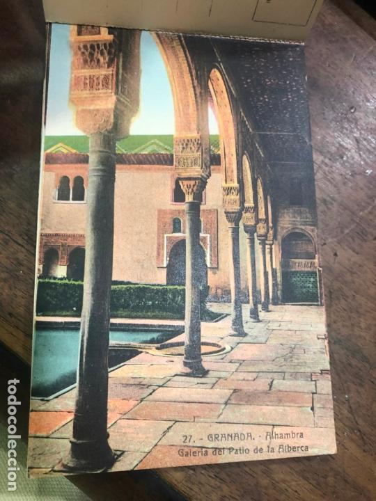 Postales: LIBRO RECUERDO DE GRANADA - TARJETAS POSTALES POR ABELARDO LINARES - ALHAMBRA - Foto 3 - 172067040