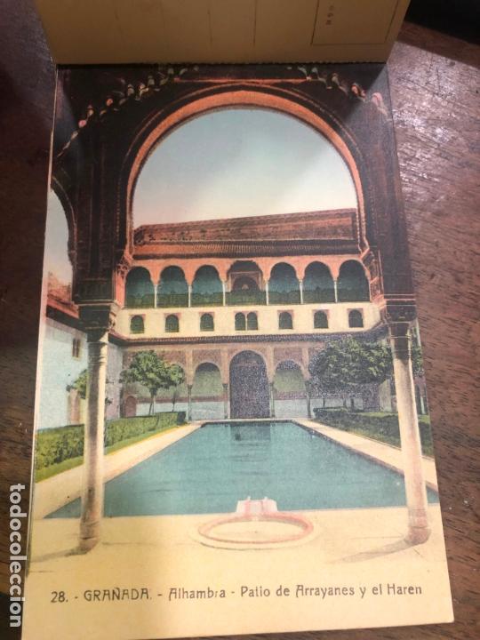 Postales: LIBRO RECUERDO DE GRANADA - TARJETAS POSTALES POR ABELARDO LINARES - ALHAMBRA - Foto 4 - 172067040