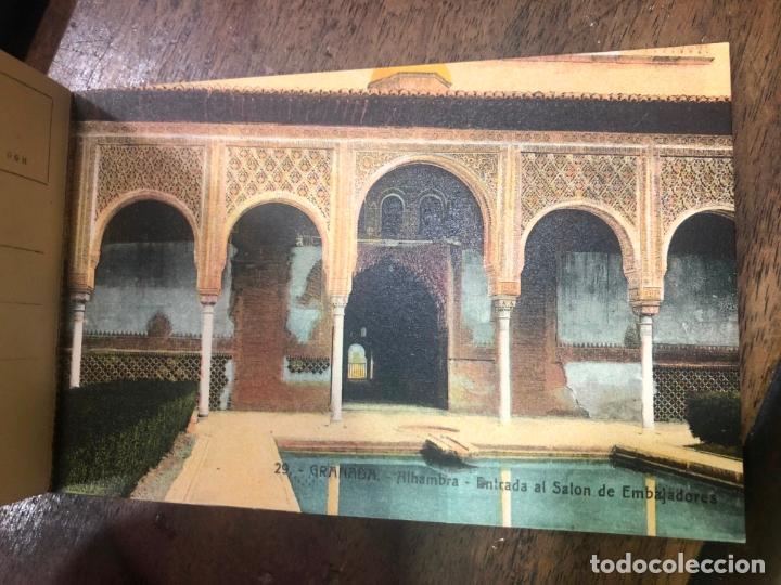 Postales: LIBRO RECUERDO DE GRANADA - TARJETAS POSTALES POR ABELARDO LINARES - ALHAMBRA - Foto 5 - 172067040