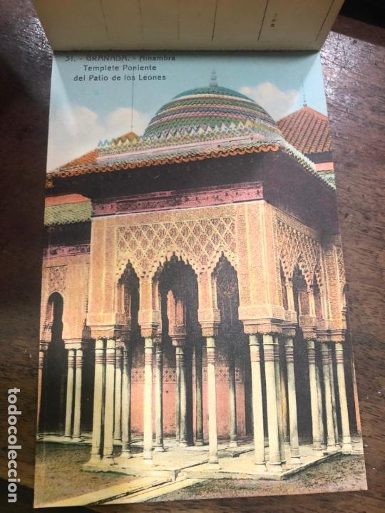 Postales: LIBRO RECUERDO DE GRANADA - TARJETAS POSTALES POR ABELARDO LINARES - ALHAMBRA - Foto 6 - 172067040