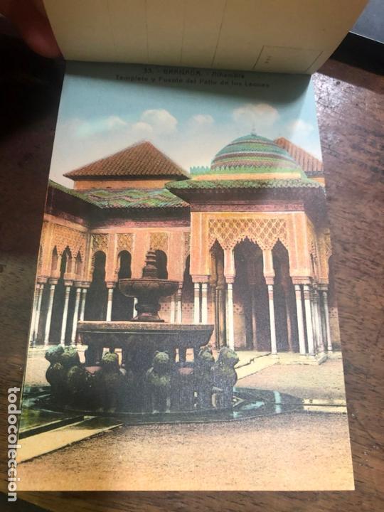 Postales: LIBRO RECUERDO DE GRANADA - TARJETAS POSTALES POR ABELARDO LINARES - ALHAMBRA - Foto 8 - 172067040