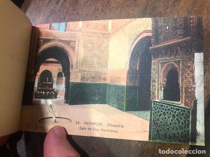 Postales: LIBRO RECUERDO DE GRANADA - TARJETAS POSTALES POR ABELARDO LINARES - ALHAMBRA - Foto 9 - 172067040