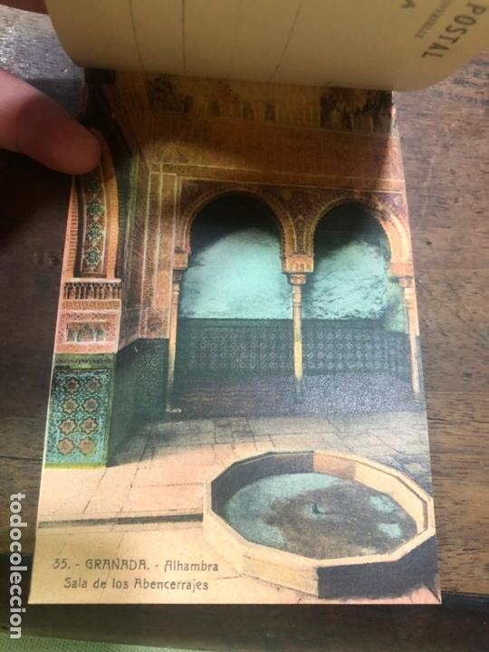 Postales: LIBRO RECUERDO DE GRANADA - TARJETAS POSTALES POR ABELARDO LINARES - ALHAMBRA - Foto 10 - 172067040