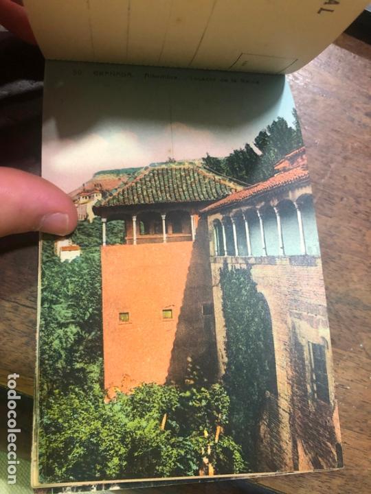 Postales: LIBRO RECUERDO DE GRANADA - TARJETAS POSTALES POR ABELARDO LINARES - ALHAMBRA - Foto 14 - 172067040