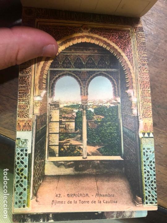 Postales: LIBRO RECUERDO DE GRANADA - TARJETAS POSTALES POR ABELARDO LINARES - ALHAMBRA - Foto 17 - 172067040