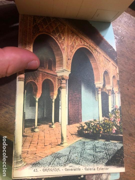 Postales: LIBRO RECUERDO DE GRANADA - TARJETAS POSTALES POR ABELARDO LINARES - ALHAMBRA - Foto 18 - 172067040