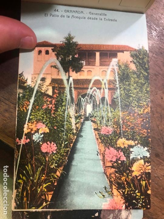 Postales: LIBRO RECUERDO DE GRANADA - TARJETAS POSTALES POR ABELARDO LINARES - ALHAMBRA - Foto 19 - 172067040