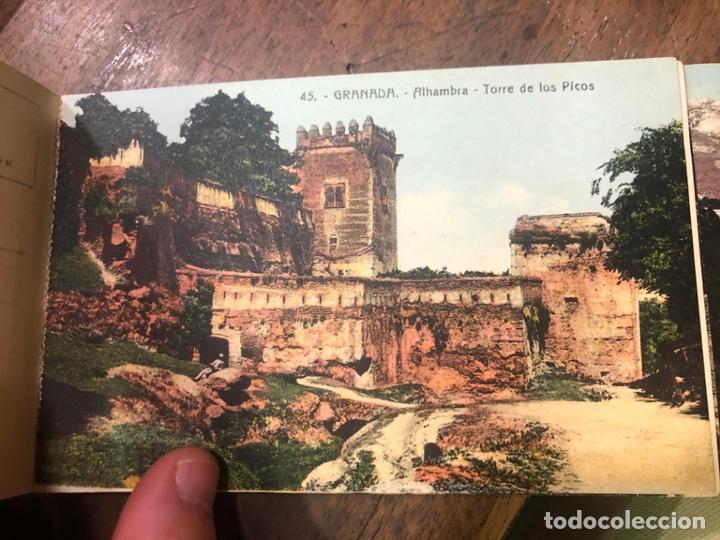 Postales: LIBRO RECUERDO DE GRANADA - TARJETAS POSTALES POR ABELARDO LINARES - ALHAMBRA - Foto 20 - 172067040