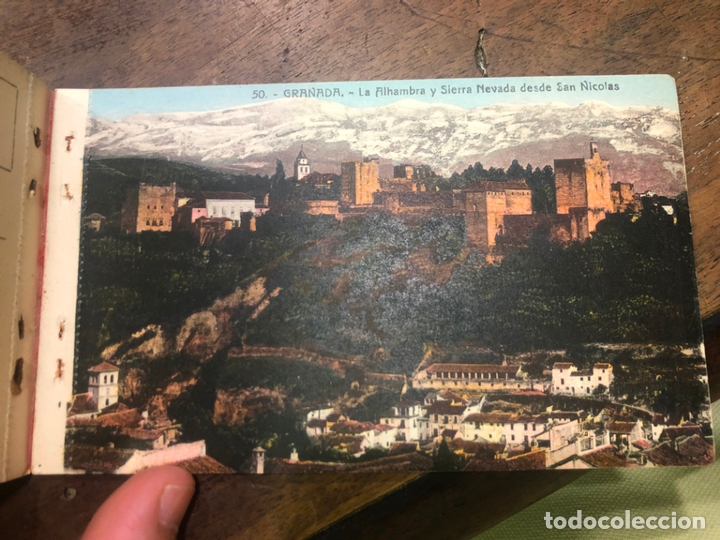 Postales: LIBRO RECUERDO DE GRANADA - TARJETAS POSTALES POR ABELARDO LINARES - ALHAMBRA - Foto 23 - 172067040