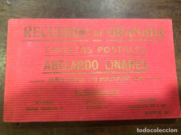LIBRO RECUERDO DE GRANADA - TARJETAS POSTALES POR ABELARDO LINARES - ALHAMBRA (Postales - Varios)