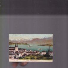 Postales: POSTCARD - LUZERN. HOFKIRCHE UND ALPEN - 1906 - TARJETA POSTAL CIRCULADA. Lote 172092927