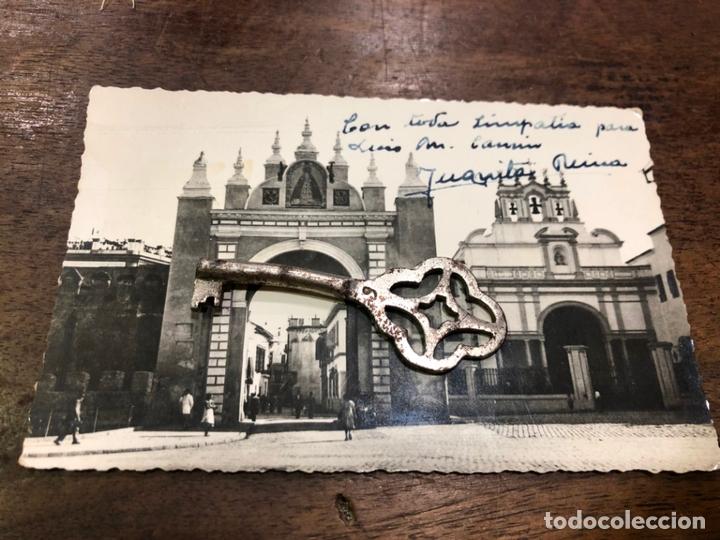 POSTAL SEVILLA - ARCO DE LA MACARENA CON FIRMA Y DEDICATORIA DE JUANITA REINA (Postales - Varios)