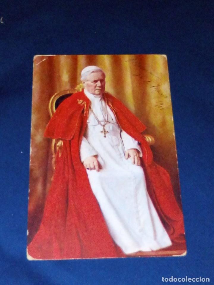 VENDO POSTAL DE S.S. EL PAPA PIO X DEL AÑO 1907 Y ESCRITA EL 26 DE MAYO DE 1908. VER OTRA FOTO. (Postales - Varios)