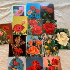 Postales: POSTALES DE FLORES. Lote 172832357