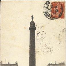 Postales: POSTAL PARÍS. LA COLONNE VENDOME ET LA PLACE. 8. FRANCIA. 1912. ESCRITA POR DETRÁS Y SELLO.. Lote 174154992