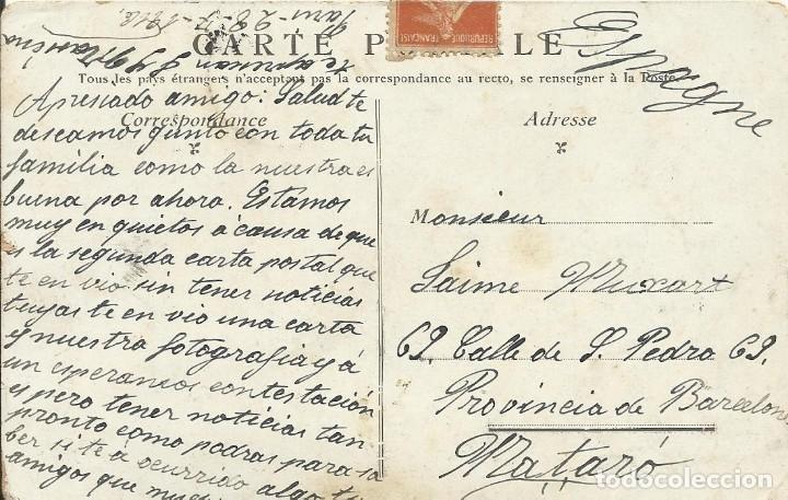Postales: Postal Paris. La colonne Vendome. 1916. Francia. Escrita con sello. - Foto 2 - 174177988