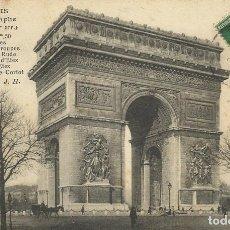 Postales: POSTAL PARIS. ARC DE TRIOMPHE DE L'ETOILE. 554. FRANCIA. ESCRITA CON SELLO. 1912. ARCO DE TRIUNFO.. Lote 174178763