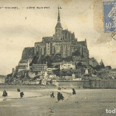 Postales: POSTAL FRANCIA: LE MONT SAINT MICHEL. COTÉ SUD-EST. LL. 5. 1916. ESCRITA CON SELLO.. Lote 174232907