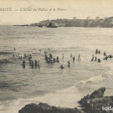 Postales: POSTAL FRANCIA: BIARRITZ. L'HOTEL DU PALAIS ET LE PHARE. 20. PRINCIPIOS SIGLO XX.. Lote 174236428