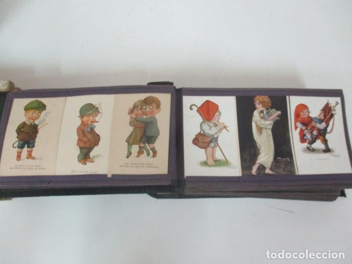 Postales: Antiguo Álbum de Postales - con 61 Páginas - 329 postales Diferentes Temáticas - Principios S. XX - Foto 8 - 166084602
