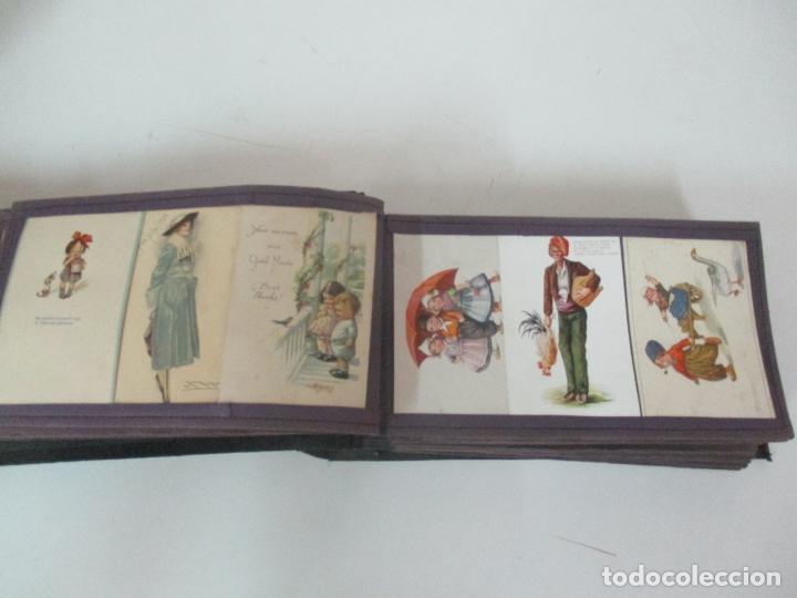 Postales: Antiguo Álbum de Postales - con 61 Páginas - 329 postales Diferentes Temáticas - Principios S. XX - Foto 15 - 166084602