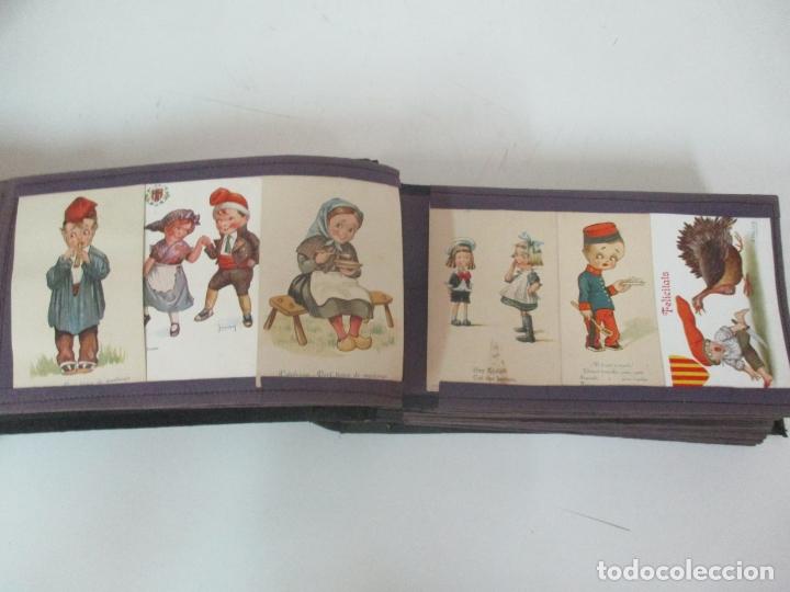 Postales: Antiguo Álbum de Postales - con 61 Páginas - 329 postales Diferentes Temáticas - Principios S. XX - Foto 17 - 166084602