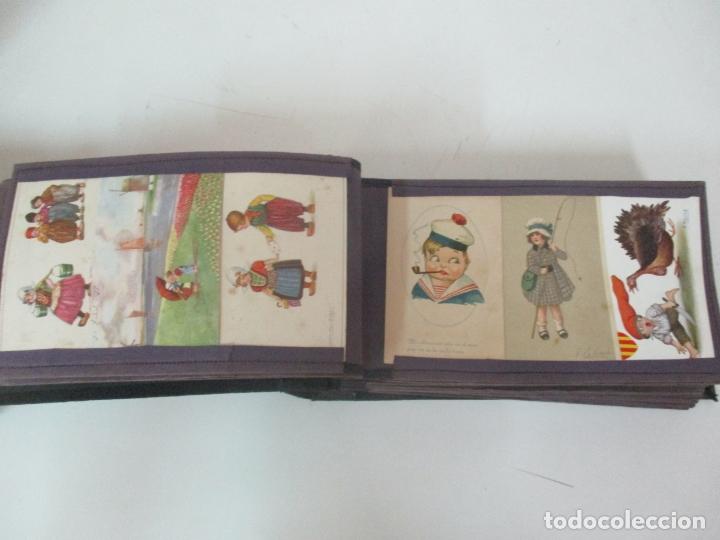 Postales: Antiguo Álbum de Postales - con 61 Páginas - 329 postales Diferentes Temáticas - Principios S. XX - Foto 18 - 166084602