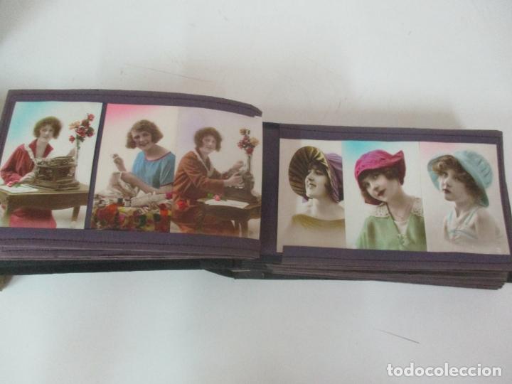 Postales: Antiguo Álbum de Postales - con 61 Páginas - 329 postales Diferentes Temáticas - Principios S. XX - Foto 21 - 166084602