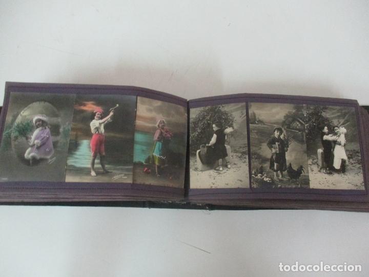Postales: Antiguo Álbum de Postales - con 61 Páginas - 329 postales Diferentes Temáticas - Principios S. XX - Foto 40 - 166084602