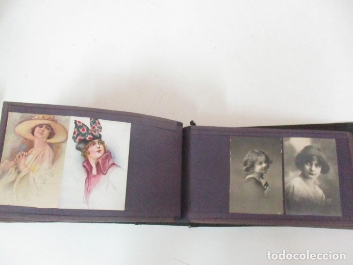 Postales: Antiguo Álbum de Postales - con 61 Páginas - 329 postales Diferentes Temáticas - Principios S. XX - Foto 52 - 166084602