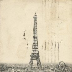 Postales: POSTAL FRANCIA. PARIS. LA TOUR EIFFEL. A. P. 3. 1921.. Lote 175224619