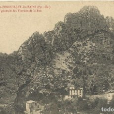 Postales: POSTAL FRANCIA. ST-PAUL-DE-FENOUILLET-LES-BAINS. VUE GENERALE DES THERMES DE LA FOU. PRINCIPIOS S.XX. Lote 175263629