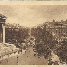 Postales: POSTAL FRANCIA. PARIS. LA PLACE ET LE BOULEVARD MADELEINE. 80. NONA. 1924.. Lote 175264529