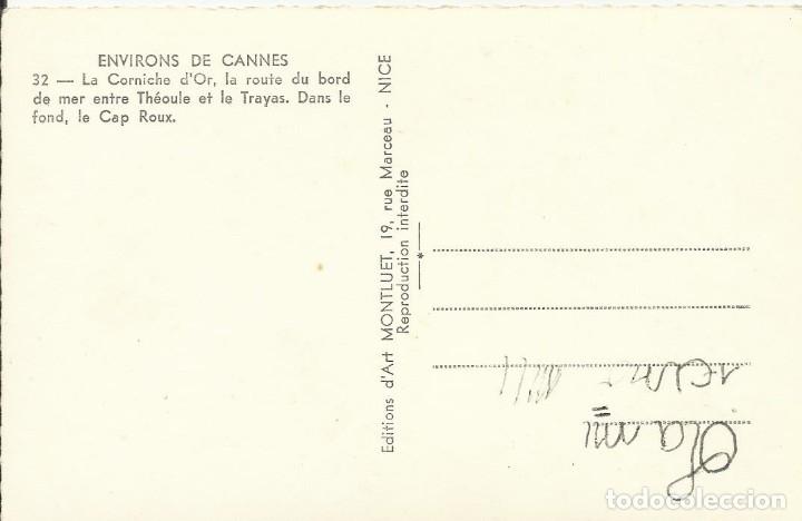 Postales: Postal Francia. Cannes. La Corniche dOr. Cap Roux. Theoule et Trayas. 32. Años 50. - Foto 2 - 175418017