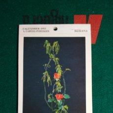 Postales: CALENDRIER 1993 A CARTES POSTALES IKEBANA COMPLETO VER FOTOS. Lote 175453732