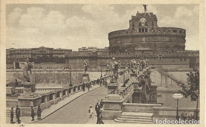 POSTAL ITALIA. ROMA. PUENTE Y CASTILLO SAN ANGELO. PRINCIPIOS SIGLO XX. 9X14 CM. 1933. (Postales - Varios)