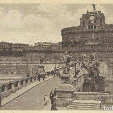 Postales: POSTAL ITALIA. ROMA. PUENTE Y CASTILLO SAN ANGELO. PRINCIPIOS SIGLO XX. 9X14 CM. 1933.. Lote 175510945