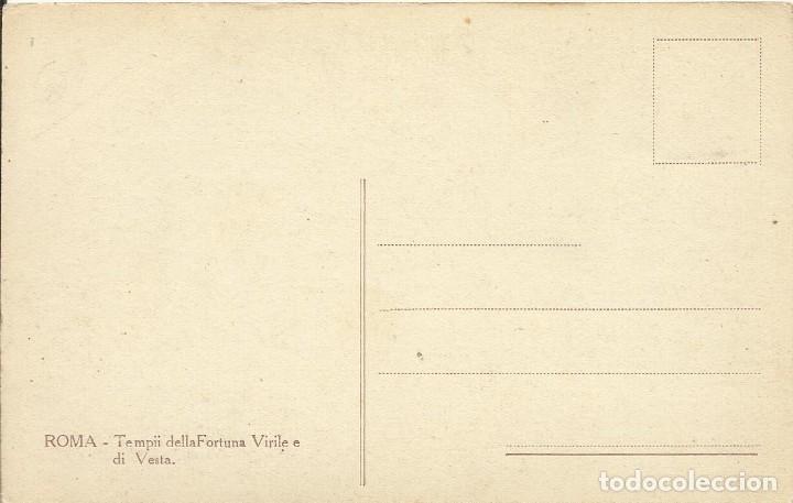 Postales: Postal Italia. Roma. Templo de la Fortuna Viril y de Vesta Principios siglo XX. 9x14 cm. - Foto 2 - 175511133