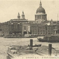 Postales: POSTAL INGLATERRA. LONDRES. LONDON. SAINT-PAUL'S CATHEDRAL FROM RIVER. LL. 3. PRINCIPIOS SIGLO XX.. Lote 175514184